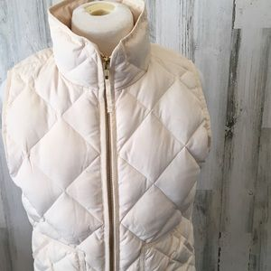 J. Crew Women's Ivory Down Quilted Puffer Vest
